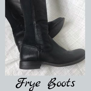 Genuine leather FRYE knee high boots
